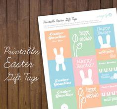 Printable: Easter Gift Tags | Simply2B.com #printable #free #design #simply2b Easter Gift, Happy Easter, Easter Printables, Free Design, Gift Tags, Goodies, Creative, Blog, Crafts