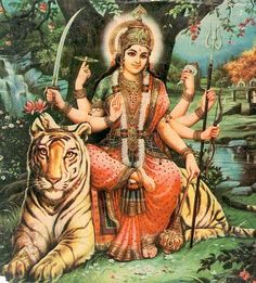 Fourth Lower Right Hand symbolizes forgiveness and Goddess Durga's blessings. We must forgive ourselves and others for mistakes and/or any hurt we may have caused.
