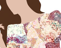 Pattern design for fashion print. Textile Pattern Design, Textile Patterns, Textiles, Fashion Prints, New Work, Behance, Store, Gallery, Check