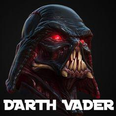 Organic Darth Vader, Lucas Bischoff on ArtStation at https://www.artstation.com/artwork/rQmYG