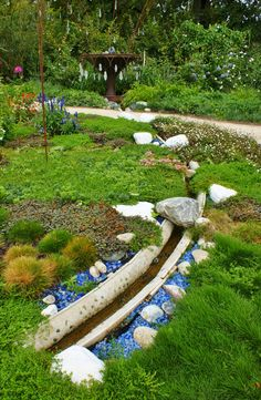 what if i made a garden stream from gutter material