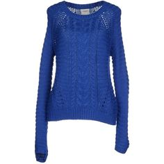 Vero Moda Jumper ($71) ❤ liked on Polyvore featuring tops, sweaters, blue, jumpers sweaters, acrylic sweater, vero moda, long sleeve sweaters and blue jumper