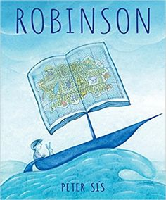 Robinson by Peter Sís. Unable to sleep after being teased about his Robinson Crusoe costume, a boy finds himself stranded on his own deserted island, accompanied by a small white rabbit. loaded with details. Robinson Crusoe, Magical Pictures, New Pictures, Cthulhu, Used Books, Books To Read, Book Reviews For Kids, Boston Public Library, Book Week
