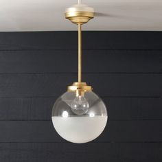 This Brass Pendant Globe fixture features  -10in Wide Half Clear / Half Frosted Globe -Raw Brass Fittings -Raw Brass Pipe -110 / 220 Volt -60 Watts Max -Universal Mounting Bracket and Screws Included -All fixtures are handmade using UL Approved parts -Using UL approved parts does not make the fixture as a whole, UL Listed -UL Listing of fixtures is available upon request for an additional fee. Message us for a quote.  -Light bulb not included.  -FREE SHIPPING on all orders shipped within…