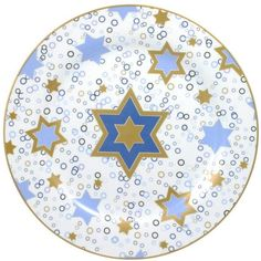 Mikasa® Hanukkah Round Platter ($15) ❤ liked on Polyvore featuring home, kitchen & dining, serveware, holiday platters, mikasa, holiday serveware, holiday plates and porcelain plates