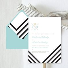 Whitman Digital Invitation (Paperless Invite, Black and White chevron stripes) Invitation Paper, Digital Invitations, Invitation Design, Party Invitations, Wedding Paper, Wedding Cards, Wedding Stationary, Invites Wedding, Grafik Design
