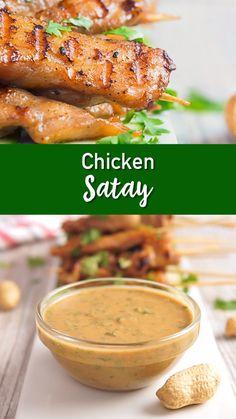 Satay Chicken Satay that would make your Grandmother proud!Chicken Satay that would make your Grandmother proud! Healthy Chicken Recipes, Seafood Recipes, Indian Food Recipes, Asian Recipes, Appetizer Recipes, Cooking Recipes, Dinner Recipes, Appetizers, Pollo Satay