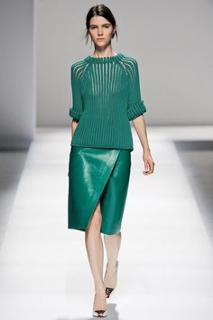 Sportmax #Spring2013 #MFW I adore the green sweater