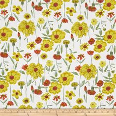 Art Gallery Bountiful Perennial Optimism from @fabricdotcom  Designed by Sharon Holland for Art Gallery, this cotton print fabric features colorful spring blooms to get you in the summer spirit! Perfect for quilting, apparel and home decor accents. Colors include white, black, mustard, gold, sky blue, green and red.