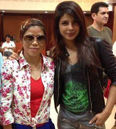 Sisters-in-arms: Priyanka, Mary Kom http://movies.ndtv.com/photos/sisters-in-arms-priyanka-mary-kom-15460