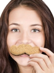 The crustache is an excuse to get food on your face!