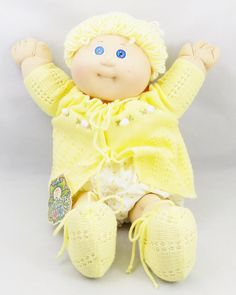 1984 Blonde Cabbage Patch Doll, Cabbage Patch Kids with Adoption Paper and Birth Certificate