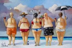 Artwork of Ronald West exhibited at Robertson Art Gallery. Original art of more than 60 top South African Artists - Since Desenho Pop Art, Plus Size Art, Fat Art, Illustration Art, Illustrations, South African Artists, Painting People, Fat Women, Naive Art