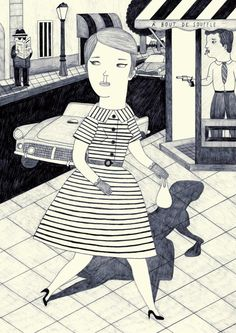 Illustration by Ana Albero So in love with her art