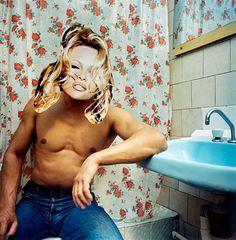 reiner riedler Festival Photo Levallois 2011 - iets met collages, zelf gemakeupte 'beelden' doen