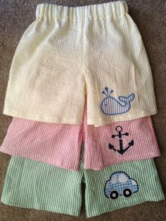 seersucker little boy shorts Baby Boys, Toddler Boys, Sewing For Kids, Baby Sewing, Baby Boy Applique, Baby Boy Outfits, Kids Outfits, Little Boy Fashion, Seersucker