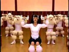 This is a mesmerizing and frightening video. It's a word-for-word parody of Susan Powter's first workout video, featuring poodles and a crazy poodle-woman. Absolutely surreal. It was made by Nagi Noda for Panasonic. It was part of 10 films they made for the 2004 Athens Olympics.