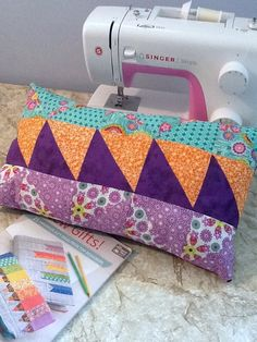 Completed pillow from Adult Sew & Serge class!  Creative Arts Inc.