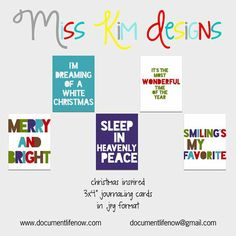 Miss Kim Designs   Holiday Album Filler Card freebie