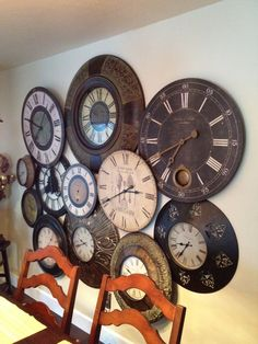 clock art - I am so drawn to these clocks! Everytime I see one in the store I want it!