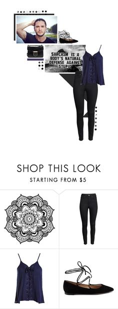 """""""Untitled #598"""" by po8grl ❤ liked on Polyvore featuring PAM, H&M, Sans Souci, Gianvito Rossi, Givenchy, highwaisted, trousers, flat, CAMISOLES and GianvitoRossi"""