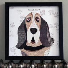 'Basset Hound' Dog Print