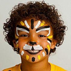 Tiger Sticks Design - Sticks Designs Face Paint Ideas - How to Face Paint - Snazaroo