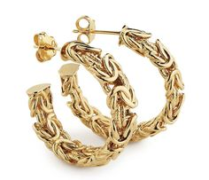 Byzantine Hoop Earrings in 18k Yellow Gold  #BlueNile #MothersDay #jewelry
