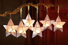Luminous Fair Trade star ornaments from Ten Thousand Villages