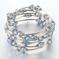 Bead Jewellery, Beaded Jewelry, Jewelry Bracelets, Jewelery, Handmade Bracelets, Handmade Jewelry, Bracelet Fil, Memory Wire Jewelry, Summer Bracelets