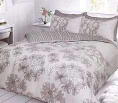 Linear Printed Natural Duvet Quilt Cover Bedding Set – Linen and Bedding
