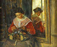 Elisabeth Nourse (American, 1860-1938) ~ The Lacemaker