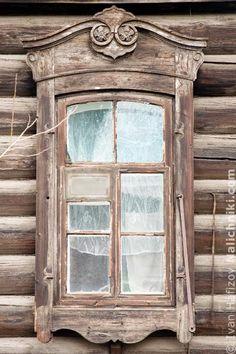 Деревянный наличник Иркутска №2