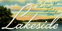 Lakeside font download
