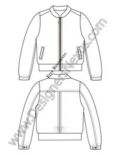 54 Best ideas for fashion drawing template sketch Fashion Design Sketchbook, Fashion Design Portfolio, Fashion Sketches, Flat Drawings, Flat Sketches, Jacket Drawing, Fashion Show Poster, Fashion Drawing Tutorial, Drawing Templates