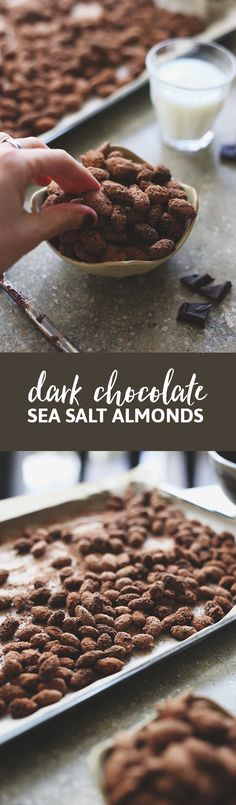 Have you ever tried the Trader Joe's Dark Chocolate Sea Salt Almonds? They're unbelievably addictive! I've just made your obsession worse by sharing the recipe so you can make them at home with just 5 ingredients!
