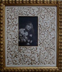 lavis Art nouveau - motif réalisé au brou de noix