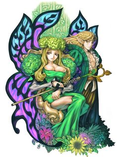 Fairy Queen Elfaria & Melvin from Odin Sphere