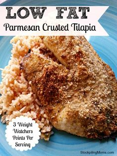 Low Fat Parmesan Crusted Tilapia only 3 Weight Watchers points per serving!
