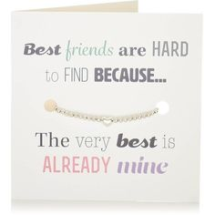 La de da! Living Bracelet 'Best Friend' Gift And Card In One ($16) ❤ liked on Polyvore featuring jewelry, bracelets, bracelet jewelry and bracelet bangle