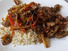 Chińszczyzna z ciemnym ryżem