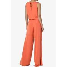 TheMogan - TheMogan Women's S~3X Casual Sleeveless Loose Wide Leg Pants Jumpsuit Lounge Jumper - Walmart.com - Walmart.com Mother Of The Bride Suits, Jay Godfrey, Fat Fashion, Red Jumpsuit, Tall Women, Comfortable Outfits, Wide Leg Pants, Beautiful Outfits, Bodice