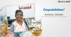 Cheers to Ranga Swami on winning the lunch coupon. Hope you enjoy your delicious meal! #UnitedTax #Contest #Winner