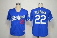 Dodgers #22 Clayton Kershaw Blue Cool Base Embroidered MLB Jersey!$21.50USD