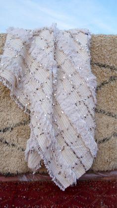 Moroccan wedding blanket Handira rug.wedding by soukiemodern on http://www.soukiemodern.com/wedding-blankets
