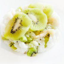 Ma recette du jour : Riz au lait kiwi sur Recettes.net