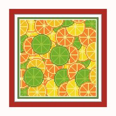 Buy 2 get 1 free. Fruit Cross Stitch Pattern.(#P- 1285) Citrus fruits Cross Stitch. Kitchen Modern Cross Stitch Pattern. Home Stitch Pattern
