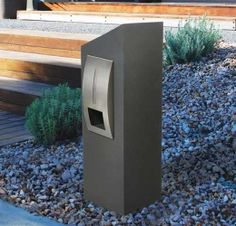 The Right Residential Mailbox for Your Apartment Fire Pits For Sale, Residential Mailboxes, External Lighting, Desert Homes, Body Powder, Reinforced Concrete, Back Doors, Galvanized Steel, House Styles