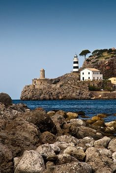 Punta De Sa Crue Lighthouse Baleares, Balearic Islands, Spain by Deddle