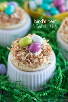 Sugar Cookie Bird's Nest Cookies